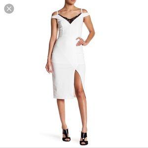 NWT $178 ABS Allen Schwartz Cold Shoulder Dress 4